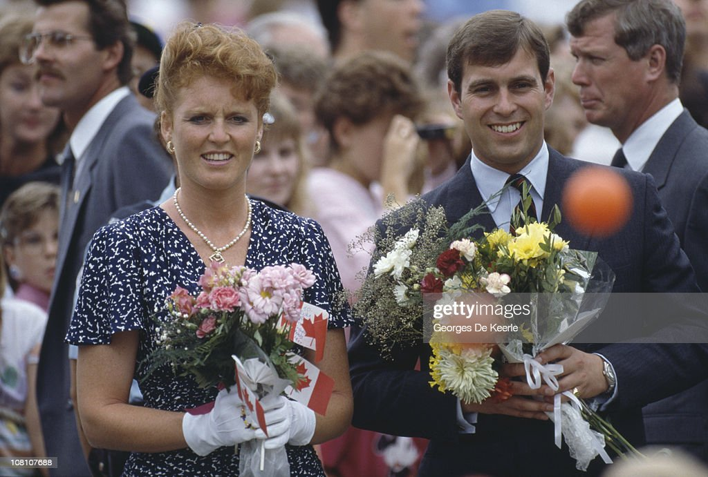 The Duke and Duchess of York during a visit to Canada, July 1987.