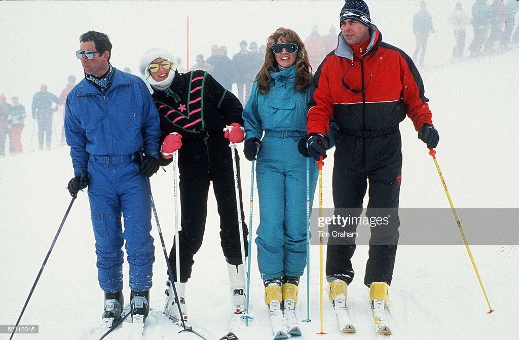 The Duke And Duchess Of York In Klosters Switzerland With The Prince And Princess Of Wales