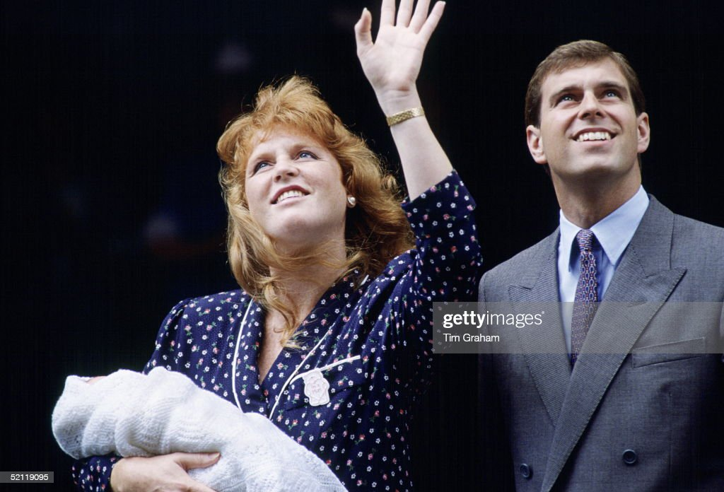 The Duke And Duchess Of York Leaving Hospital After The Birth Of Their Daughter, Princess Beatrice.