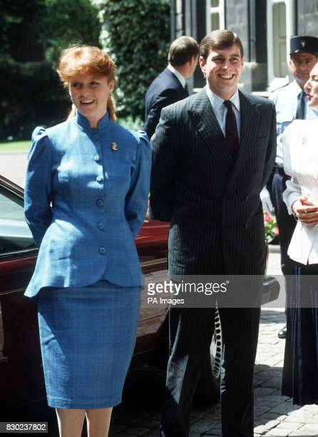 The Duke and Duchess of York visit the wine district of Bordeaux in France for the annual festival of the flowering of the wine the Fete da la Fleur