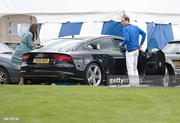The Duke Of Cambridge Prince William And Catherine Duchess Of Cambridge At The Audi Polo Challenge Charity Polo Match At Coworth Park Polo Club In...