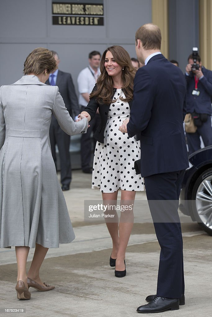 The Duke of Cambridge, <a gi-track='captionPersonalityLinkClicked' href=/galleries/search?phrase=Prince+William&family=editorial&specificpeople=178205 ng-click='$event.stopPropagation()'>Prince William</a>, The Duchess of Cambridge, Catherine Middleton and <a gi-track='captionPersonalityLinkClicked' href=/galleries/search?phrase=Prince+Harry&family=editorial&specificpeople=178173 ng-click='$event.stopPropagation()'>Prince Harry</a> attend the inauguration, and make an official visit at Warner Bros, Leavesden Studio, London on April 26, 2013 in Watford, England.