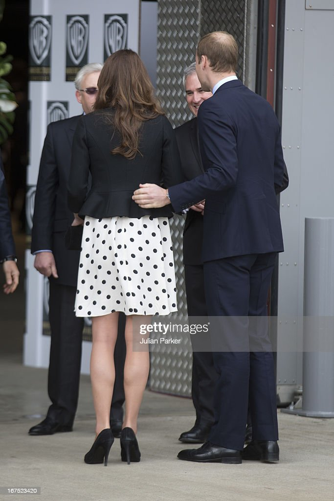 The Duke of Cambridge, <a gi-track='captionPersonalityLinkClicked' href=/galleries/search?phrase=Prince+William&family=editorial&specificpeople=178205 ng-click='$event.stopPropagation()'>Prince William</a>, The Duchess of Cambridge, Catherine Middleton and Prince Harry attend the inauguration, and make an official visit at Warner Bros, Leavesden Studio, London on April 26, 2013 in Watford, England.