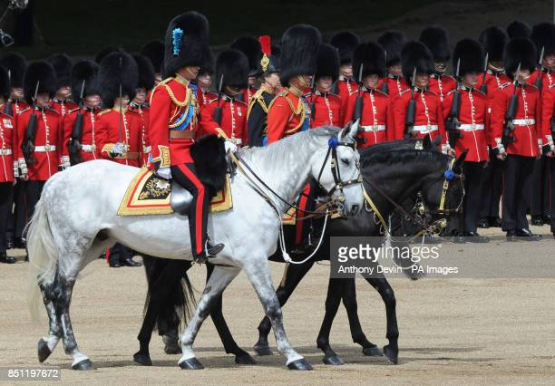 The Duke of Cambridge Princess Royal and the Prince of Wales arrive at Horse Guards Parade London to attend Trooping the Colour PRESS ASSOCIATION...