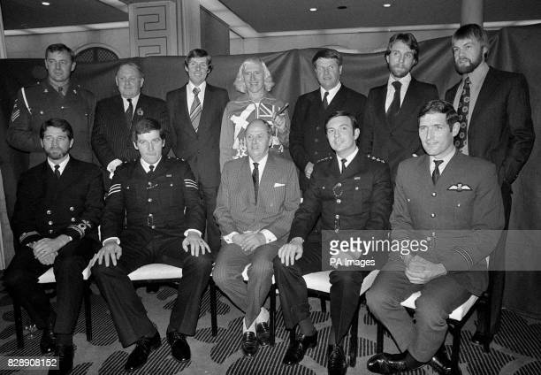 The Duke of Devonshire chairman of the Royal Association for Disability and Rehabilitation at the Savoy Hotel in London when he was joined by 11 men...