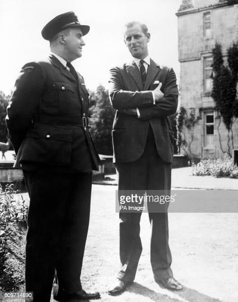 The Duke of Edinburgh at a meeting of Canadian Air Cadets at Balmoral Scotland