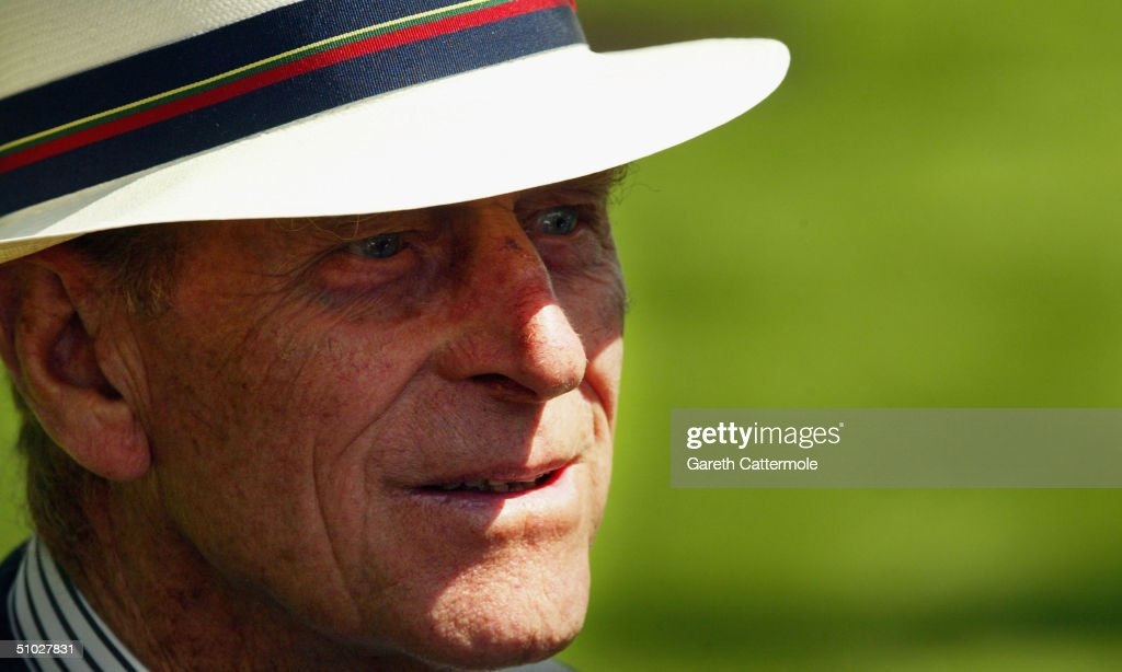 The Duke of Edinburgh attends the opening of the Diana Memorial Fountain in memory of the late Princess Diana, at the south side of the Serpentine, Hyde Park on July 6, 2004 in London. Gustafson Porter was chosen as the design team for the GBP3 million oval-shaped fountain, which is the size of a football pitch, with one side a gentle slope and the other a cascading stream, flowing together into a tranquil pool.