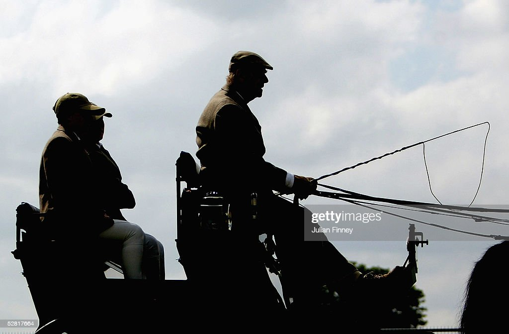 The Duke Of Edinburgh Competes In Carriage Riding Event During Royal Windsor Horse Show