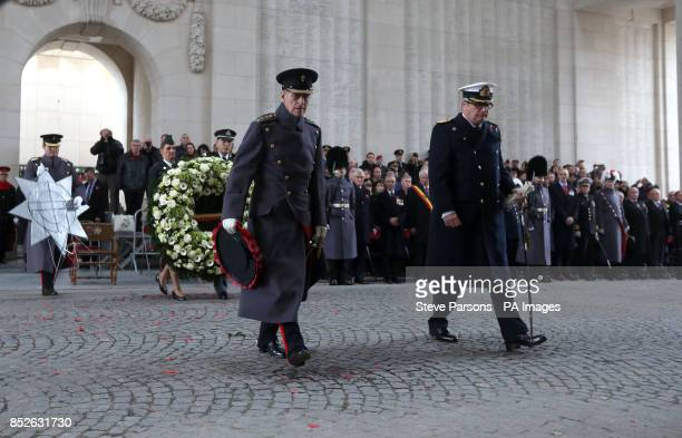 The Duke of Edinburgh led tributes at Menin Gate memorial to fallen troops at the scene of some of the First World War's most deadly battles as he...