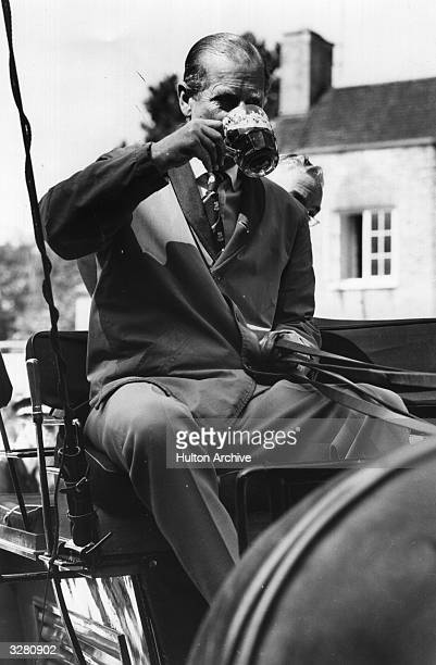 The Duke of Edinburgh Prince Philip taking part in the Geeves Carriage Championship