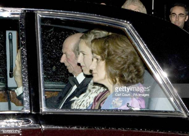 The Duke of Kent arrives with friends at Buckingham Palace in London to attend a private reception and concert as part of The Prince of Wales 60th...