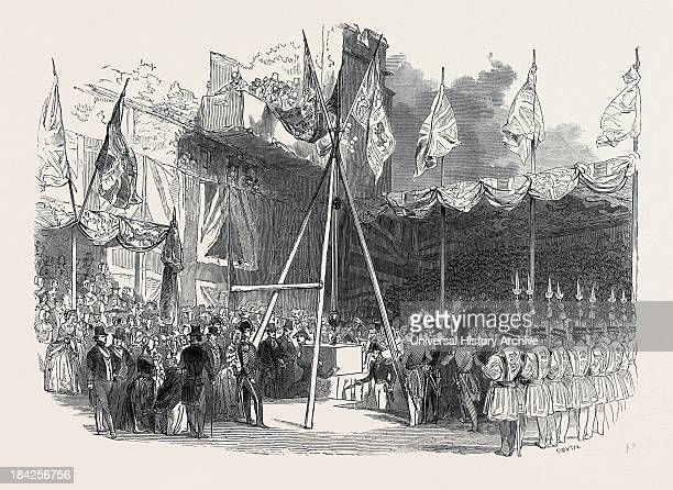 The Duke Of Wellington Laying The First Stone Of The Waterloo Barracks At The Tower Of London Great Britain