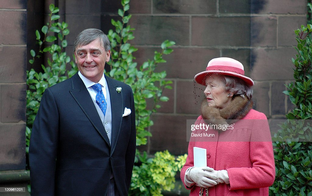 The Duke of Westminster at the wedding of Lady Tamara Katherine Grosvenor and Edward Bernard Charles van Cutsem at Chester Cathedral on Saturday November 6, 2004