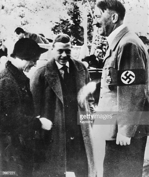 The Duke of Windsor and the Duchess of Windsor meeting Adolf Hitler in Germany