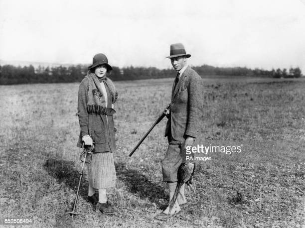 The Duke of York and Miss Edwina Ashley during Sir E Cassel's shooting trip at Newmarket