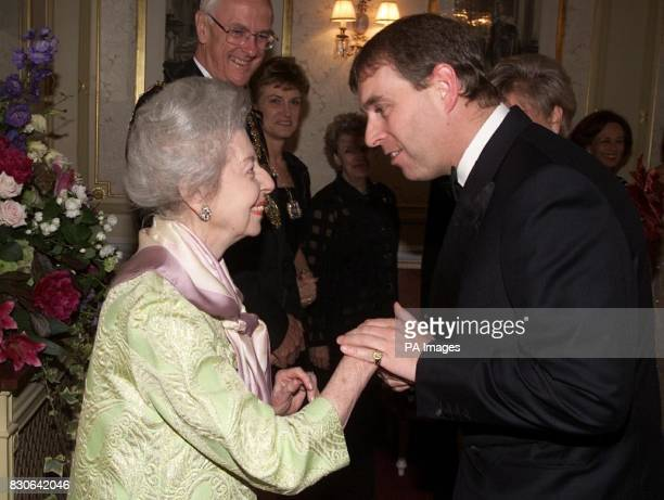The Duke of York Patron of the English National Ballet is welcomed by Dame Alicia Markova President of the ENB as he arrives at the Royal Albert Hall...
