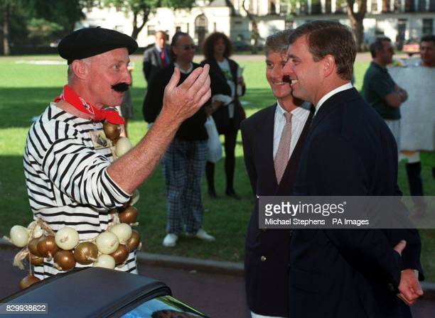 The Duke of York talks to Richard Watson one of the contestants in the 13th Trivial Pursuit a treasure hunt to Monte Carlo in aid of the Chemical...
