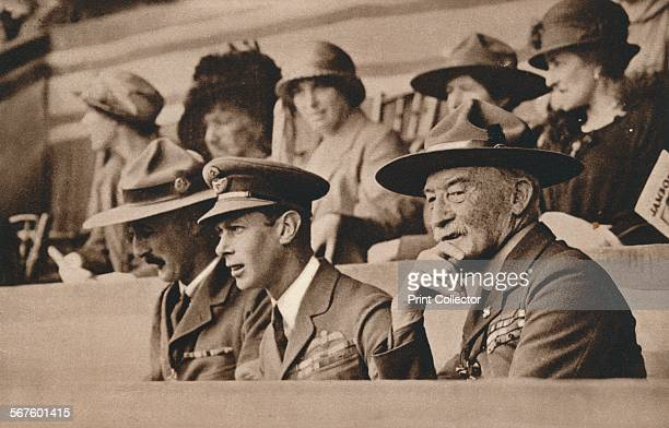 'The Duke of York with the Chief Scout Lord BadenPowell at a Jamboree at Wembley' 1924 From Our King Queen and the Royal Princesses [Odhams Press Ltd...