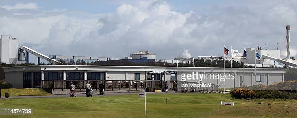 The Dundonald Golf Club club house during the Glenmuir PGA Professional Championship at Dundonald Links Golf Course on May 24 2011 in Irvine Scotland