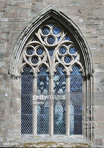 La Dunkeld Cattedrale finestra : Foto stock