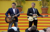 The duo H und N performs during the tv show 'Immer wieder sonntags' at Europapark on May 26 2013 in Rust Germany