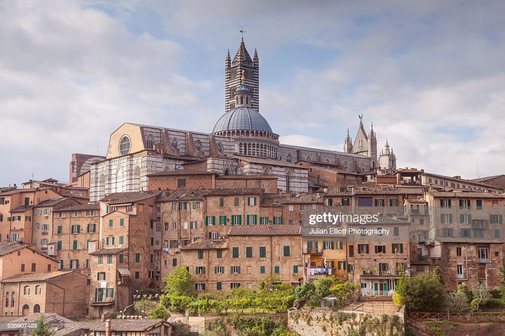 The Duomo di Siena or Siena Cathedral : Foto de stock