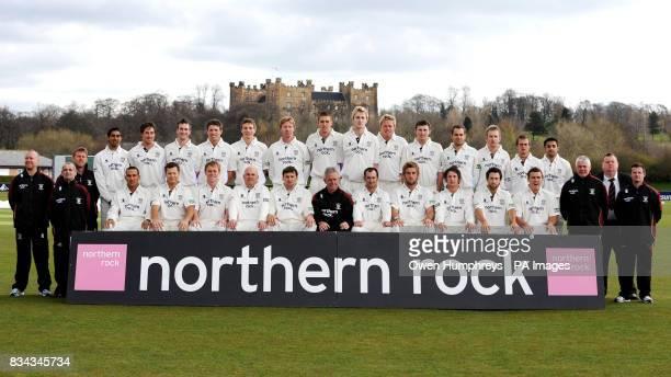 The Durham Cricket team back row Brian Hunt Alan Walker Mohammad Uzair Will Smith Lee Goddard Gordon Muchall Kyle Coetzer Mark Stoneman Gary Park...