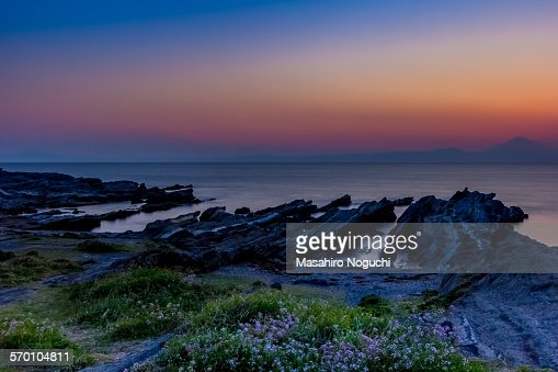 The dusk at the seashore, Jogashima island
