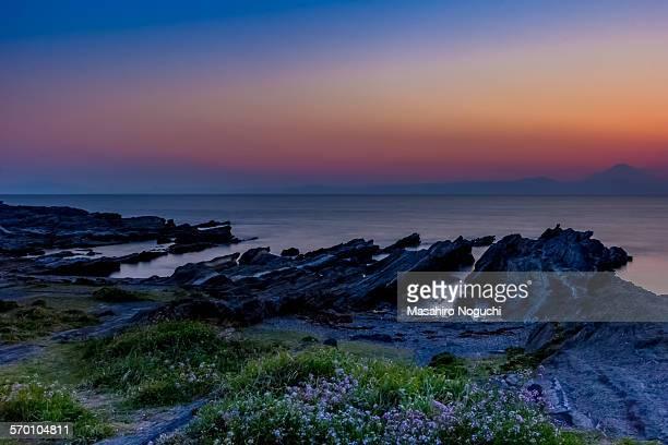 The dusk at the seashore, Jogashima island
