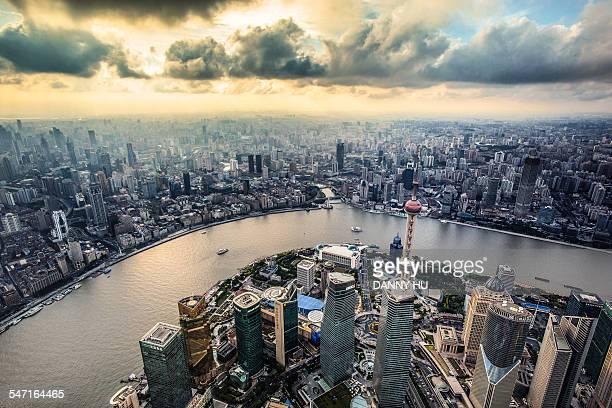 The dusk of shanghai