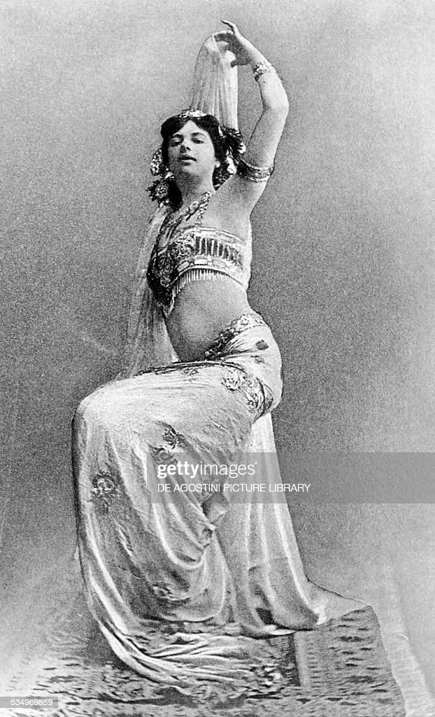 The Dutch dancer and secret agent Mata Hari pseudonym of Margaretha Zelle Geertruida in a bellydancer costume