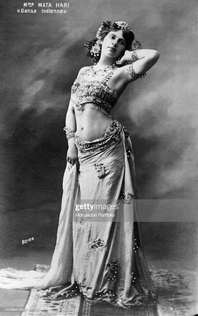 The Dutch spy and dancer Mata Hari wearing an Indian costume 1900s
