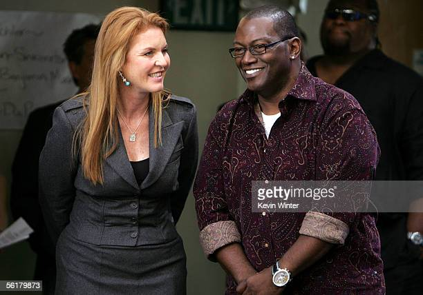 The Dutchess of York Sarah Ferguson and producer Randy Jackson pose offstage at the 2005 World Children's Day at the McDonalds Los Angeles Ronald...
