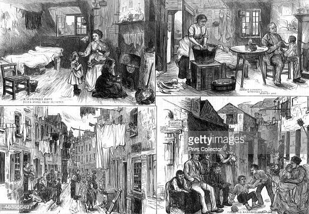 The dwellings of the poor in London 1875 'A Workman's Home Rose Crown Court Islington Sunday Morning Workman's Home Leather Lane Church Lane...