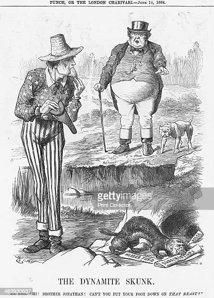 'The Dynamite Skunk' 1884 John Bull shouts across the water at America There had been a number of explosions in London in recent months These were...