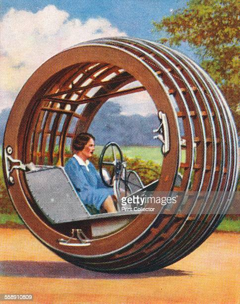 The Dynasphere 1938 The Dynasphere was a monowheel vehicle patented by JA Purves in 1930 Churchman's cigarette card from a series titled Modern...