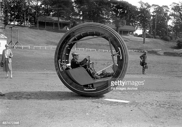 The 'Dynasphere' invented by Dr JH Purves a monowheel vehicle capable of speeds of around 30 mph at Brooklands