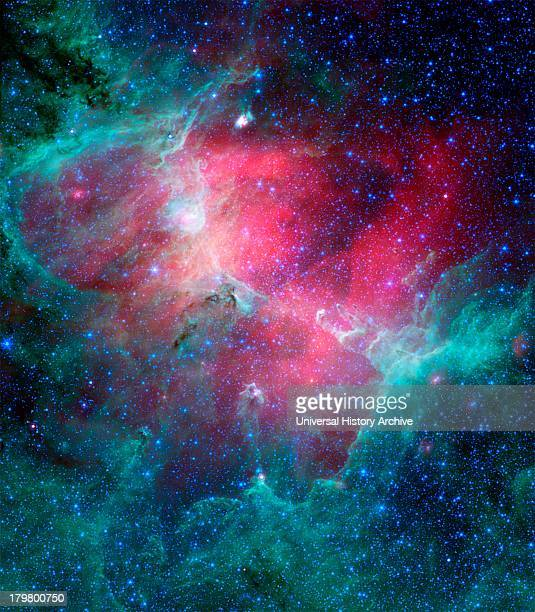 The Eagle nebula an industrious starmaking factory located 7000 lightyears away in the Serpens constellation The image shows the region's entire...