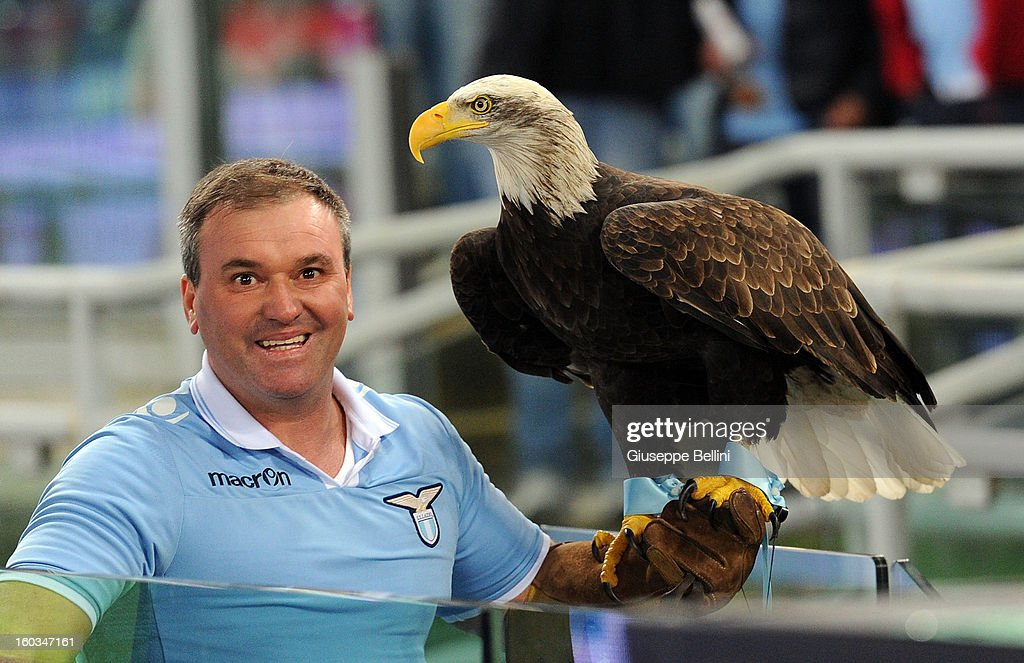 The eagle Olympia of Lazio after the TIM cup match between S.S. Lazio and Juventus FC at Stadio Olimpico on January 29, 2013 in Rome, Italy.