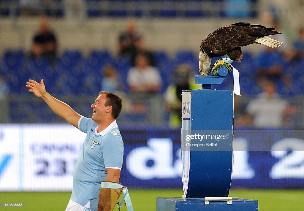 The eagle Olympia of Lazio before the pre-season friendly match between SS Lazio and Getafe CF at Olimpico Stadium on August 11, 2012 in Rome, Italy.