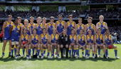 The Eagles line up before the AFL Grand Final match between the Sydney Swans and the West Coast Eagles at the Melbourne Cricket Ground on September...