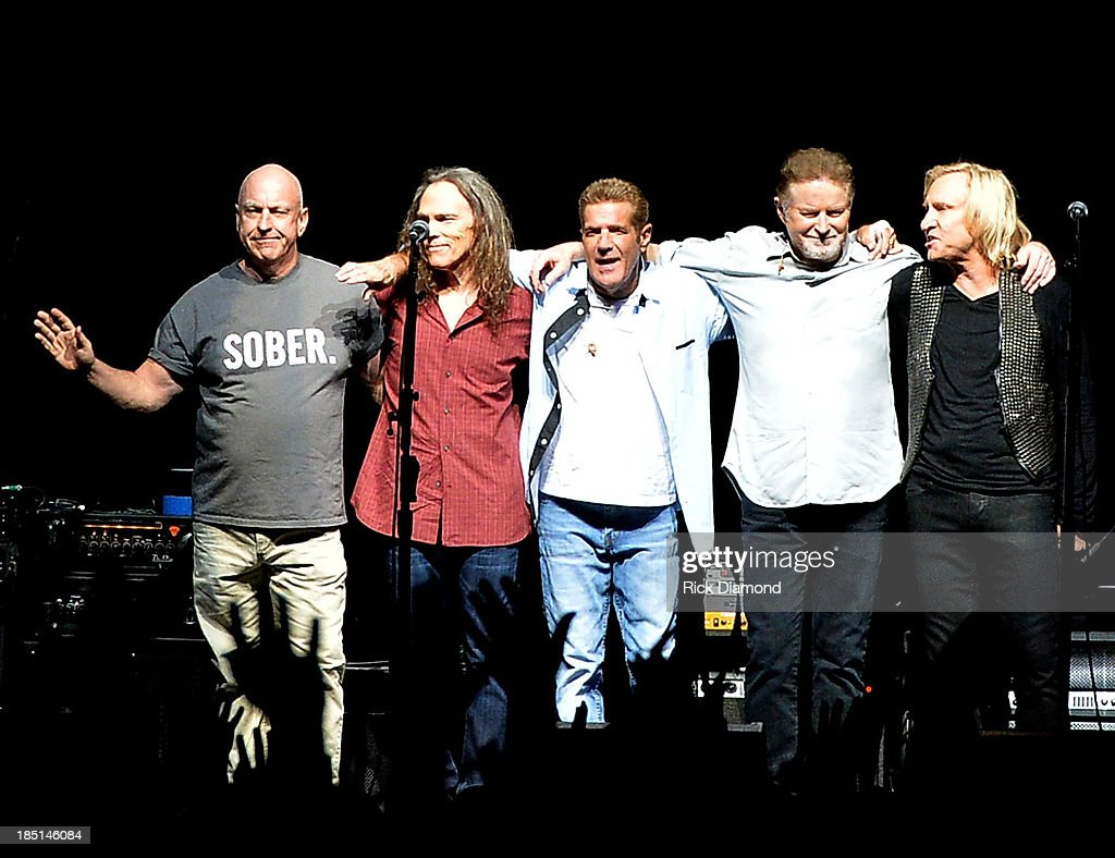 the Eagles perform during 'History Of The Eagles Live In Concert' at the Bridgestone Arena on October 16, 2013 in Nashville, Tennessee.