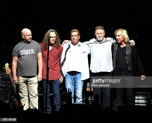 the Eagles perform during 'History Of The Eagles Live In Concert' at the Bridgestone Arena on October 16 2013 in Nashville Tennessee