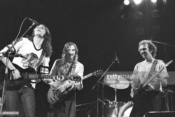 The Eagles perform on stage in Amsterdam Netherlands 1975 Glenn Frey Joe Walsh Bernie Leadon