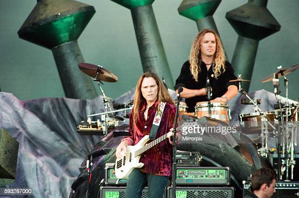 The Eagles performing live at the McAlpine Stadium in Huddersfield 10th July 1996
