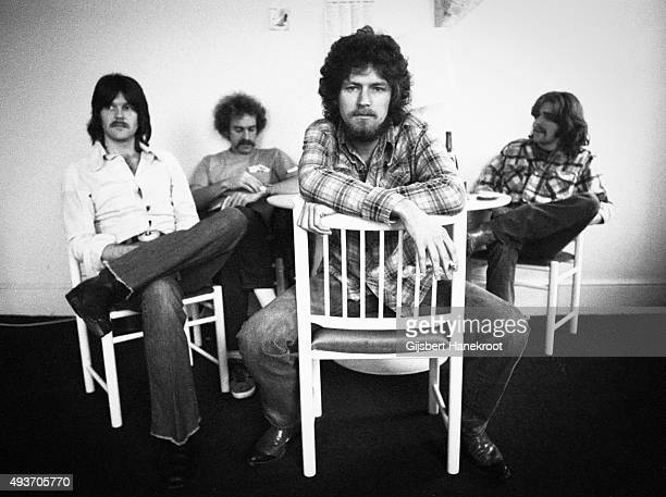The Eagles pose for a group portrait in London in 1973 LR Randy Meisner Bernie Leadon Don Henley and Glenn Frey