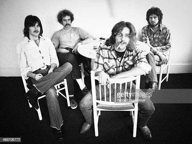 The Eagles pose for a group portrait in London in 1973 LR Randy Meisner Bernie Leadon Glenn Frey and Don Henley