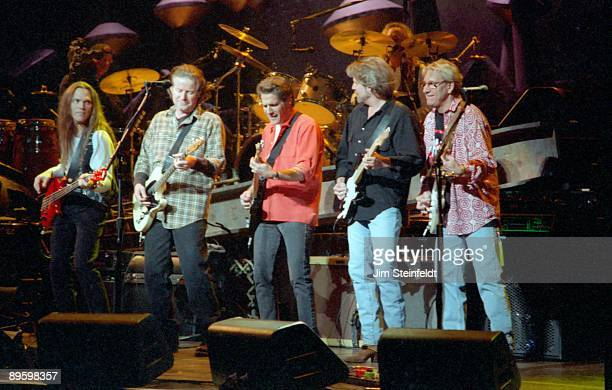 The Eagles Timothy B Schmitt Don Henley Glenn Frey Don Felder and Joe Walsh perform at the Target Center in Minneapolis Minnesota on Februarry 22 1995