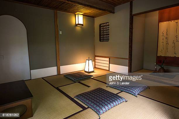 The Ean Tea House at Takanawa Garden which is used for special occasions and tea ceremony Japanese tearoom or Chashitsu have tatami mats and usually...