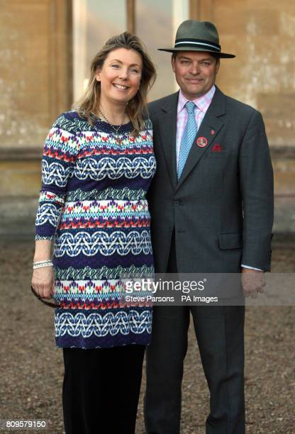 The Earl and Countess of Carnarvon host a Heroes at Highclere charity auction for armed forces at Highclere Castle near Newbury the location of TV...